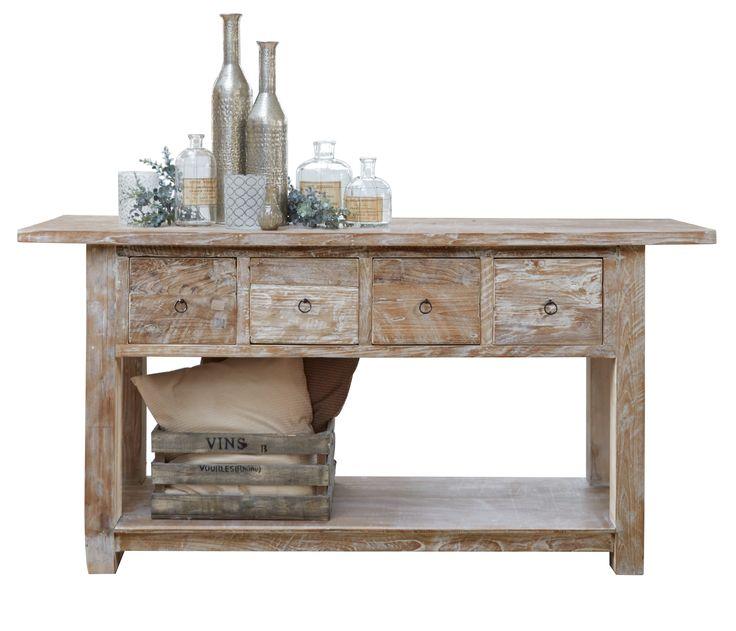 side table Pol whitewash Pronto Wonen