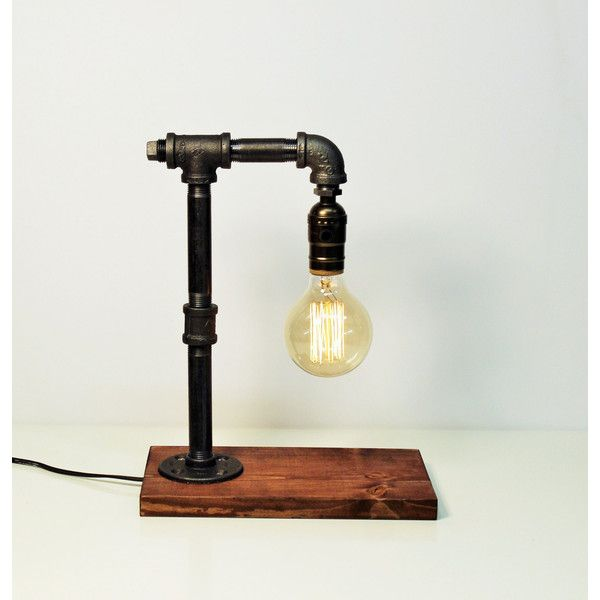edison table lamp vintage home lighting. industrial lamp steampunk table edison vintage light 220 ils liked on polyvore featuring home lighting lamps u0026 living g