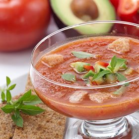 Kids Eat Right - Gazpacho recipe - traditional Spanish cold soup (makes 8 1-cup servings)