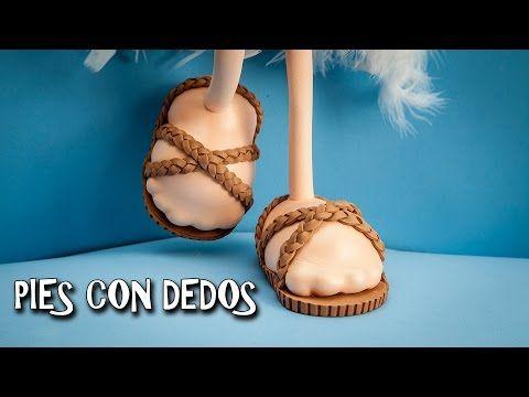 PIES CON DEDOS HECHOS CON GOMA EVA - YouTube