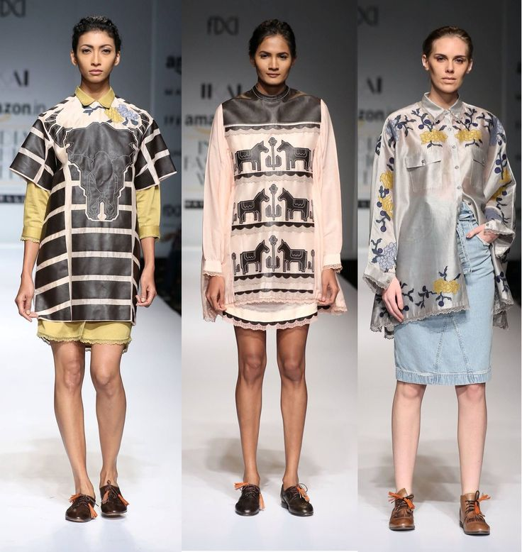 We love what Ikai by Ragini Ahuja offers with leather and denim for #SS16 #fashion #trends #aifw