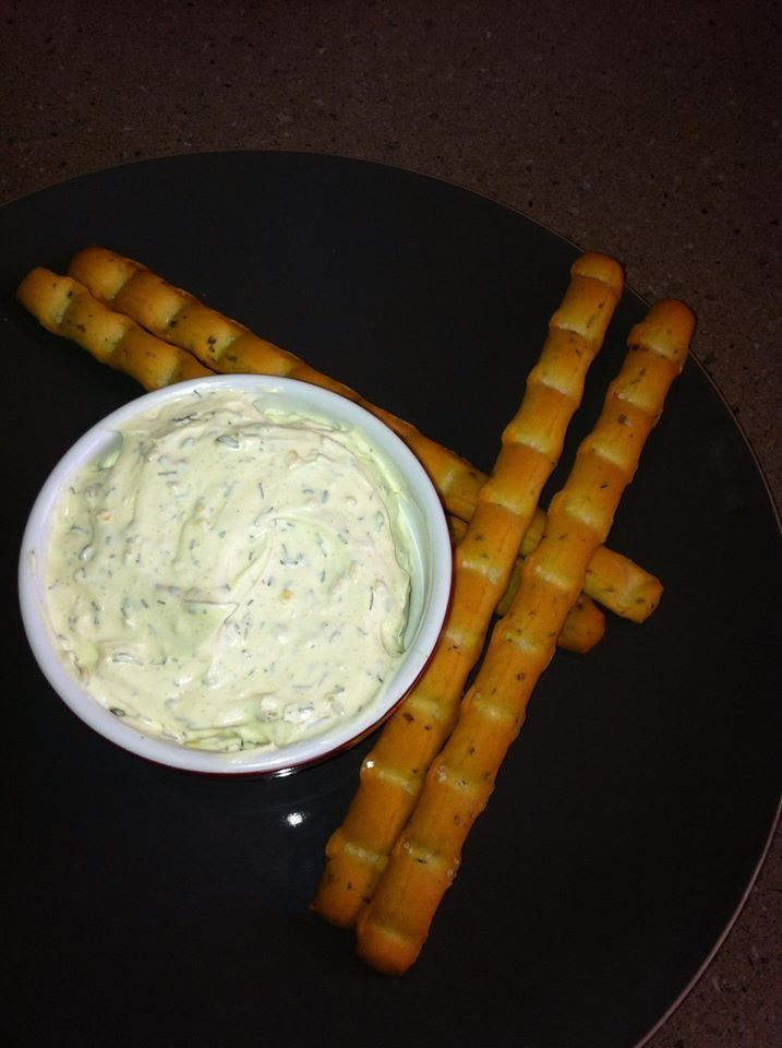 Dill and onion dip