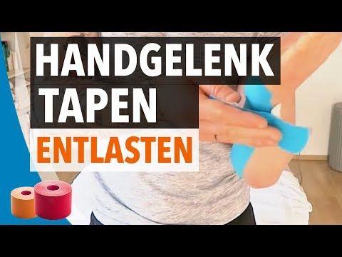 HANDGELENK TAPEN / ENTLASTEN - Anleitung zum Hand selber Tapen - Handgelenk tapen - YouTube