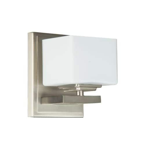 Jeremiah Lighting 133061 Encanto 1 Light Wall Sconce - 4.33 Inches Wide - Brushed nickel, Grey (Steel)