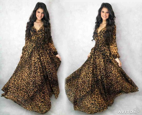 Платье леопардовое шифон