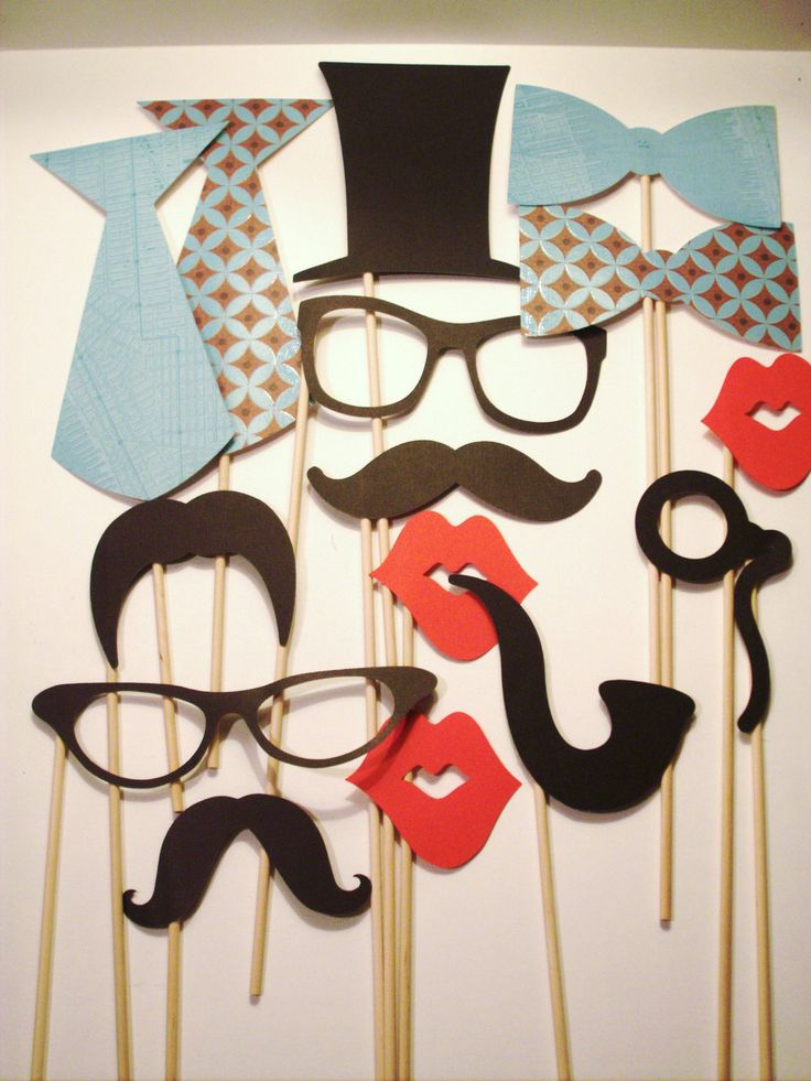 Photobooth Props Set of 15 Hipster Set by IttyBittyWedding, $19.00