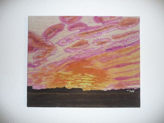 Sunrise pink clouds on the sky abstract by ArtTetisCollections, $145.00