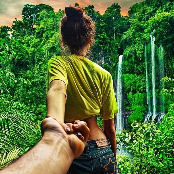 'Follow me' by Murad Osmann - Imgur- series of photos with his girlfriend leading him around the world- interesting photography idea