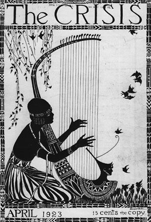 Harlem Renaissance (From the cover of the April 1923 issue of The Crisis: A Record of the Darker Races, the official monthly publication of the NAACP (1910-present)
