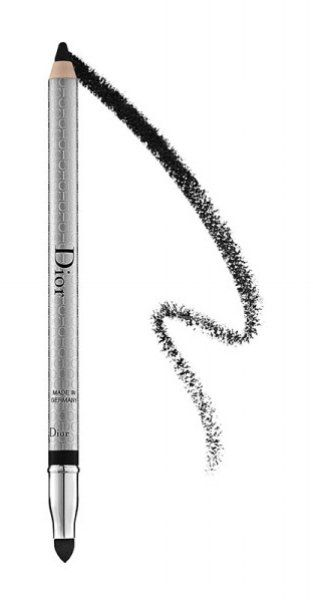 Dior Eyeliner Pencil- To fake fullness, tightline your upper lash. For added drama, apply to your lower waterline as well. Avoid lining only the lower lash—doing so can create the illusion of droopy eyes.
