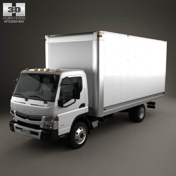Mitsubishi Fuso Box Truck 2013 3D model Models, 3d and