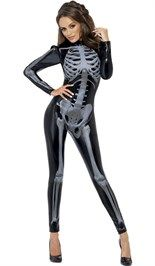 Halloween party, bestel nu online de catsuit skelet!