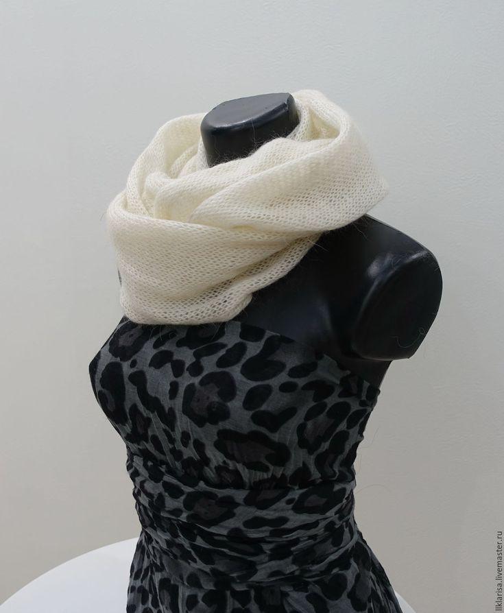 """Купить шарф-снуд """"Зимняя сказка"""" - шарф снуд, снуд вязаный, снуд женский"""