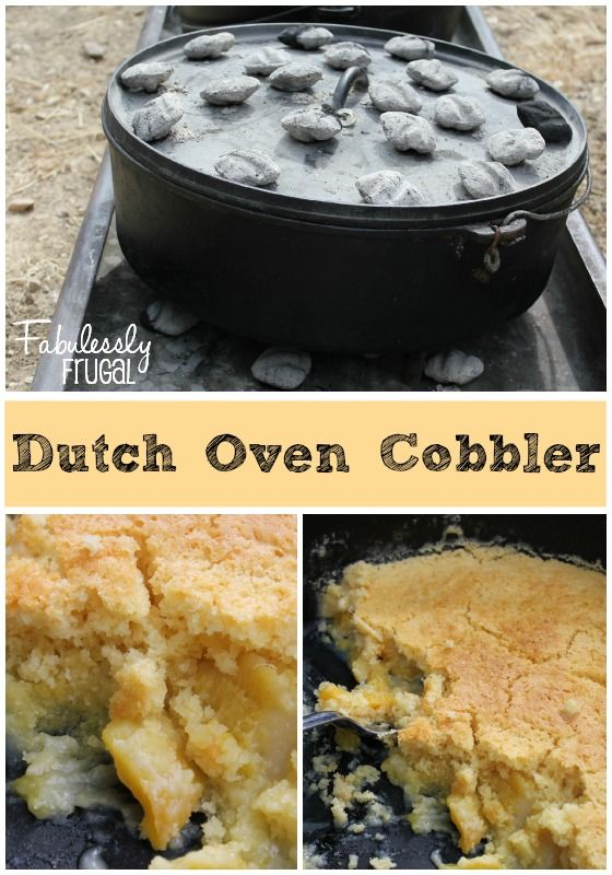 This is another fabuolus campfire cooking recipe using dutch ovens from my friend Ryan. This is a basic cobbler recipe that can be modified depending on the type of cake or fruit that you like.