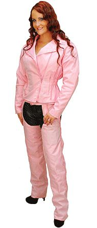 Pink Motorcycle Jacket with Vents and Armor