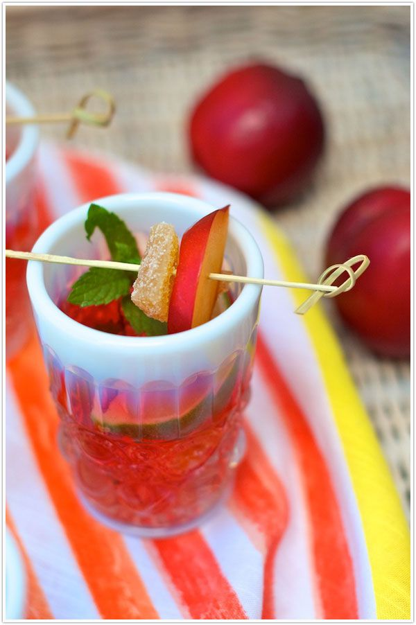 Bottoms Up :: Ginger-Plum Sangria | Summer, Style and Drinks