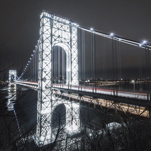 Stunning nighttime photos capture NYC's rarely-lit George Washington