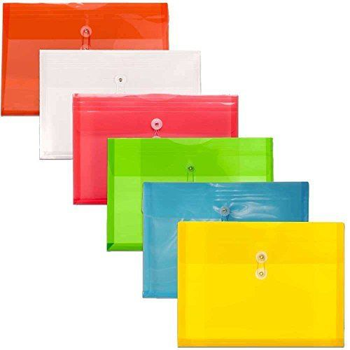 2 Pk, BAZIC Assorted 5-Pocket Expanding Files (Coupon/Personal Check Size)