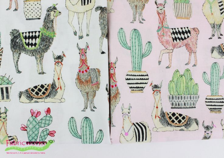 Lovely Llamas by Michael Miller