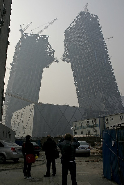 I wonder - are these going to fall right away or in 10 years?... @CCTV, Beijing