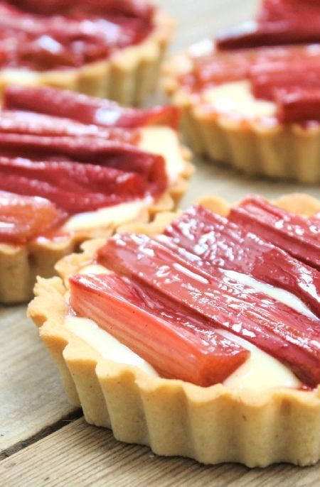 Low FODMAP Recipe and Gluten Free Recipe - Rhubarb and custard tarts    http://www.ibs-health.com/low_fodmap_rhubarb_custard_tarts.html