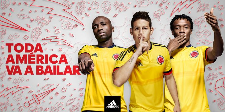 Armero, James Rodriguez, Cuadrado with new 2015 Colombia football team jersey  www.bettingrunner.com