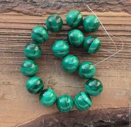 Для украшений ручной работы. Ярмарка Мастеров - ручная работа. Купить Малахит натуральный 13 мм шар бусины камни для украшений. Handmade.