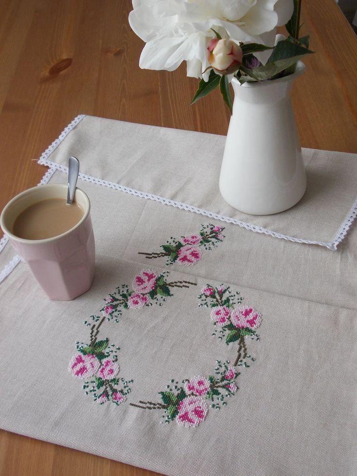 country cross stitch, roses