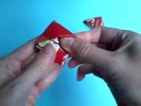 How To Make A Crisp Packet Triangle - YouTube