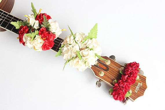 guitar accessories / Ribbon lei for guitar3set / music by ukuhappy