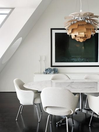 Saarinen chairs and Florence Knoll Table. Classic. Timeless. Gorgeous.