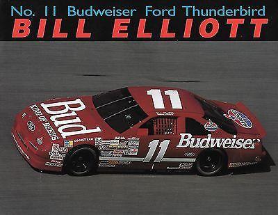 Bill Elliott #11 Red Car Postcard