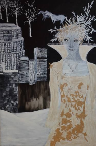 "Saatchi Art Artist Nicole Theresia Spitzwieser; Painting, ""Eisprinzessin/Iceprincess"" #art"