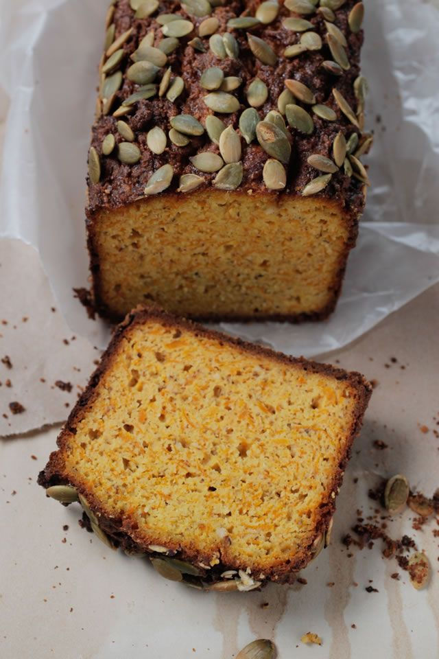 SCD Pumpkin Bread (*Use 3/4  teaspoon baking soda + a tablespoon lemon juice for the baking powder...)