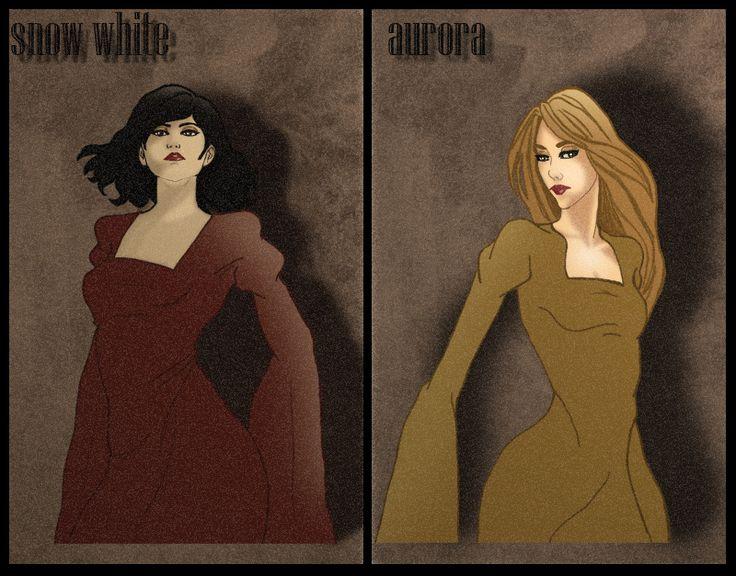 snow white and aurora