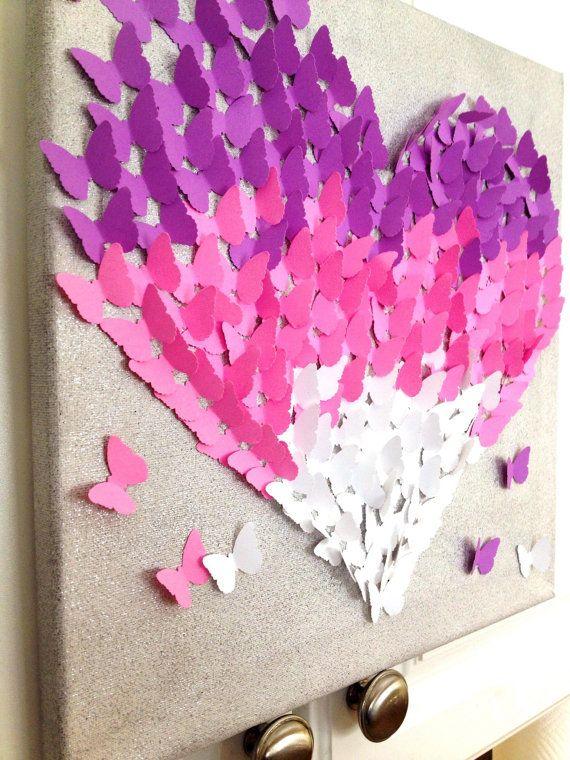 14 best 3D Butterfly Art images on Pinterest   3d canvas ...