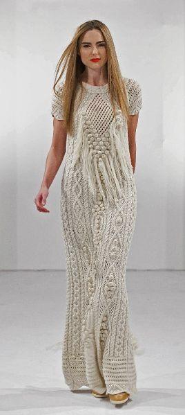 Fantasy Aran Dress | Natallia Kulikouskaya, Ireland 2013