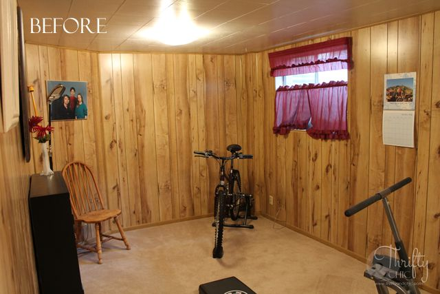 1970s wood panel bedroom bright makeover paneling on paint for basement walls id=80717