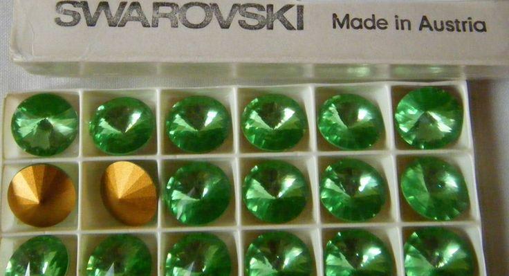 lotto 6  rivoli swarovski art. 1122 18 mm