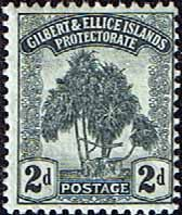 Gilbert and Ellice Islands 1911 SG 10 Tree Pandanus Pine Fine Mint SG 10 Scott 10 Other Commonwealth Stamps here