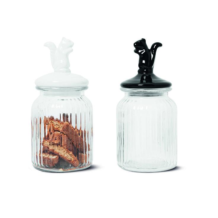 Słoiki z porcelanowymi zamknięciami z wiewiórką #jar