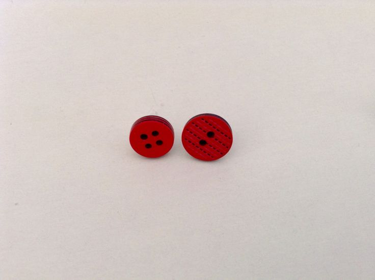 Earrings with buttons!!!!