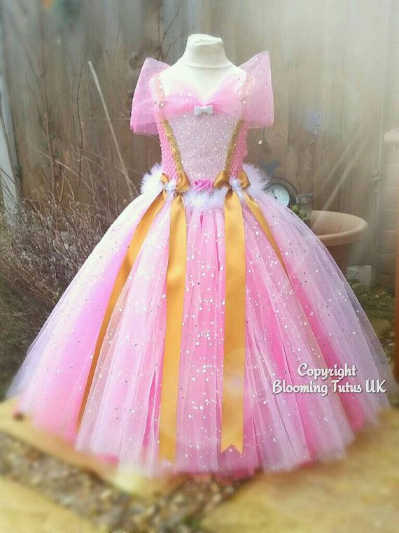 Disney Sleeping Beauty Aroura Inspired Super Sparkly Tutu Dress-Birthday, Party, Photo Prop, Pageant, Fancy Dress, Princess