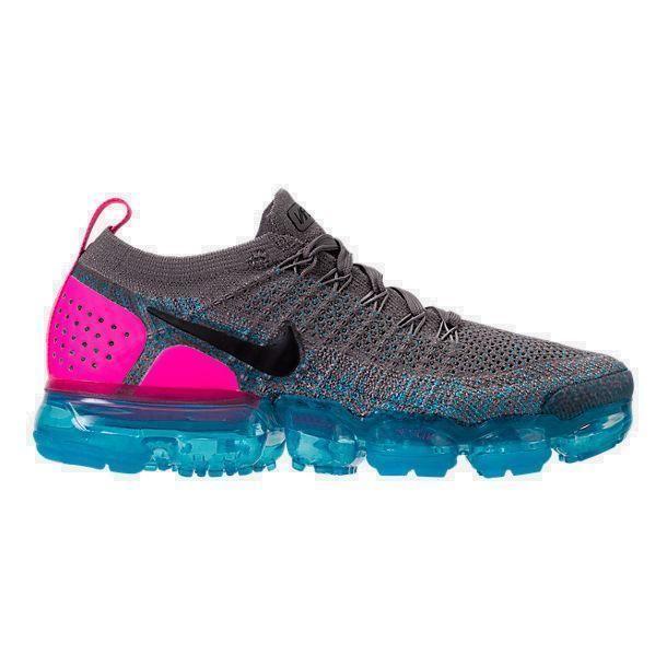 892305a7ec6 Women s Nike Air VaporMax Flyknit 2 Gunsmoke Blue Orbit Pink Blast 942843  004  NIKE  942843004