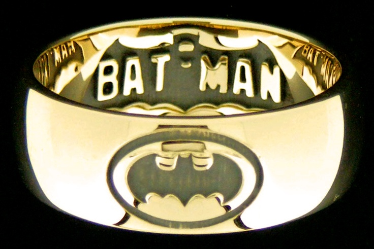 Yellow Batman Gold Cufflinks
