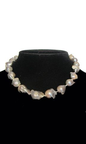 Baroque Pearl Necklace - Natural White Oyster – Marie - S