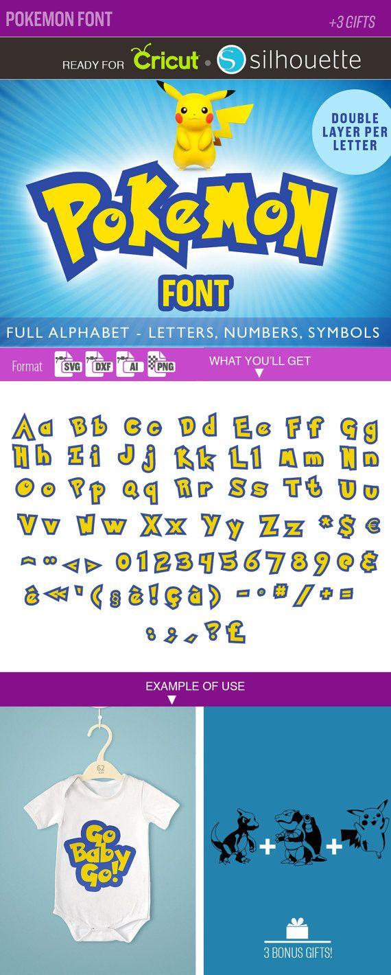 POKEMON POLICE SVG Alphabet svg fichiers de coupe par SVGmonster