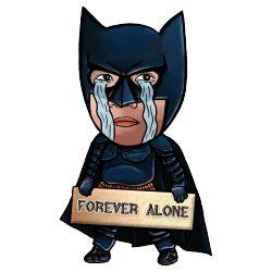 Karikatur Batman yang lucu ini cocok bagi anda yang merasa jomblo xD #Kaos #Desain #Baju #Design #TShirt #Tees #Rupawa #Parody #Batman