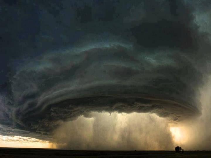 A Super cell Thunderstorm Cloud Over Montana!!! Bebe'!!! Precursor of tornadic activities!!!