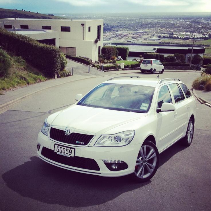 ŠKODA Octavia vRS on the hills above Christchurch #skoda #cars
